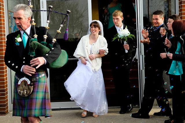 Wedding Bagpiper for Processional, Recessional