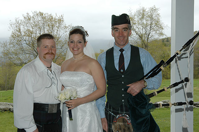 Wedding Bagpiper at Church, Processional, Recessional